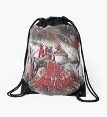 Rainy Andalusian Capriole Drawstring Bag