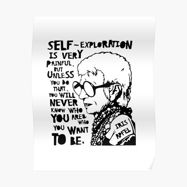 Iris Apfel Quote Poster
