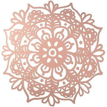 Rose Gold Mandala Redux by julieerindesign