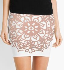Rose Gold Mandala Redux Mini Skirt