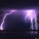 Lightning Puget Sound by Christopher  Boswell