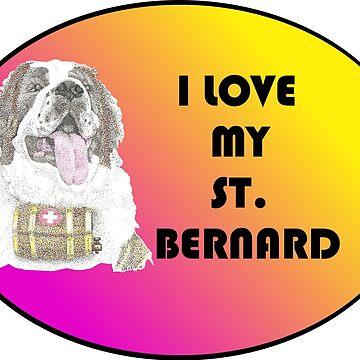 Love My St. Bernard by Yenrab