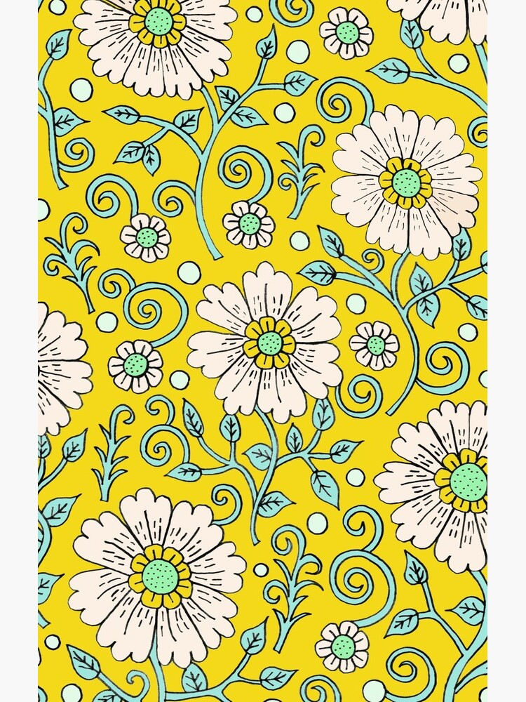 Lemon Yellow Floral by sarahoelerich