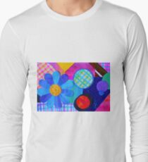 Abstract Color Collage Long Sleeve T-Shirt