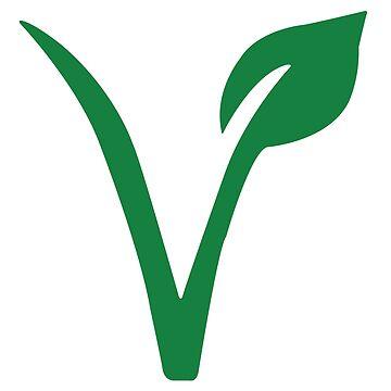 Vegan/vegetarian symbol by savagedesigns