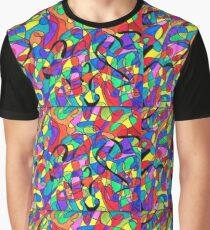 Abstract Color Drawing Graphic T-Shirt