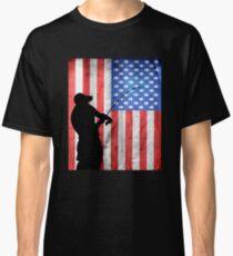 Fishing American Flag Classic T-Shirt