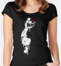 Monokuma モノクマ Women's Fitted Scoop T-Shirt