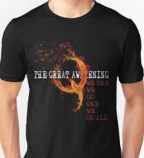 QAnon Storm The Great Awakening WWG1WGA by Scralandore Slim Fit T-Shirt