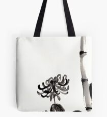 Chrysanthemum & Bamboo Tote Bag