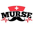 Savvy Turtle Nurse for Men Murse Mustache by SavvyTurtle