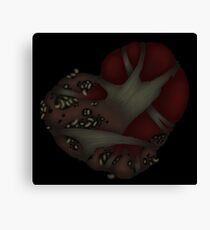 Corrupted Hearted Canvas Print