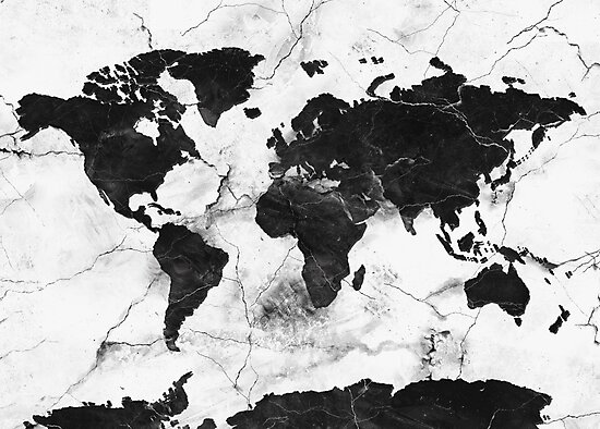 «mapamundi de mármol» de BekimART