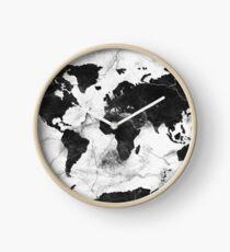 world map marble Clock