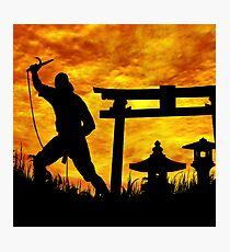 Ninja on the attack. Photographic Print