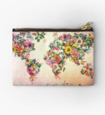 world map floral 4 Studio Pouch