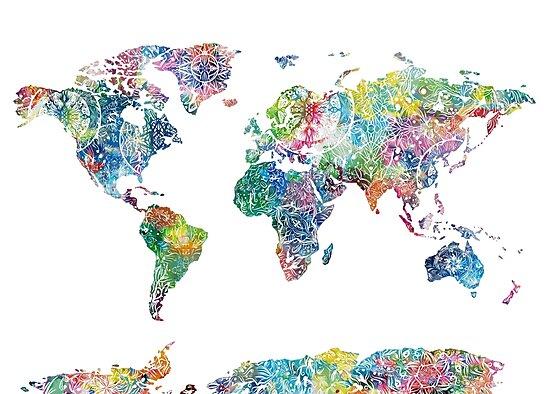 world map mandala 6 by BekimART