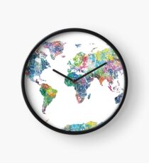 world map mandala 6 Clock