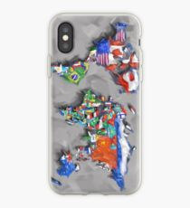 world map flags 3 iPhone Case