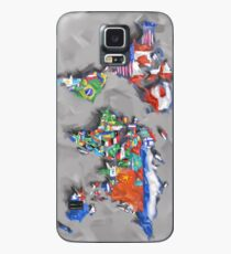 Funda/vinilo para Samsung Galaxy banderas del mapa mundial 3