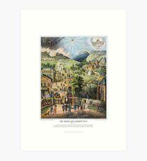 The Broad and the Narrow Way - 1883 English Edition Art Print
