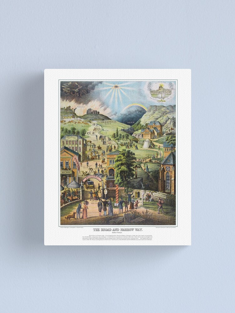 Alternate view of The Broad and the Narrow Way - 1883 English Edition Canvas Print