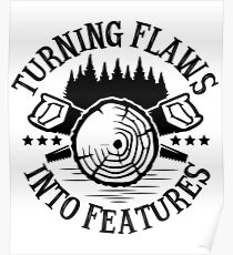 Turning Flaws Into Features (Woodworking) Poster