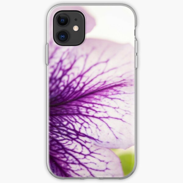 Purple-veined Petunia Petal iPhone Soft Case