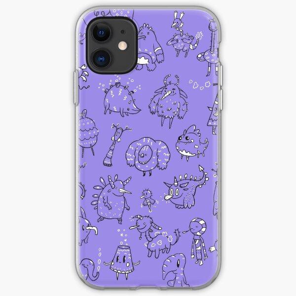 Random Creatures Phone Case - Violet iPhone Soft Case