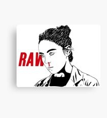 RAW - with title  Canvas Print