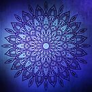 Dark Mandala in Blue by Kelly Dietrich