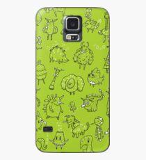 Random Creatures Phone Case - Light Green Case/Skin for Samsung Galaxy