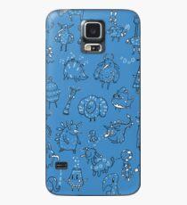 Random Creatures Phone Case - Dark Blue Case/Skin for Samsung Galaxy