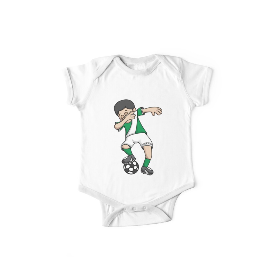 8da623f06 Nigeria Football Dabbing Soccer Boy With National Flag Jersey Futbol Fan  Shirt