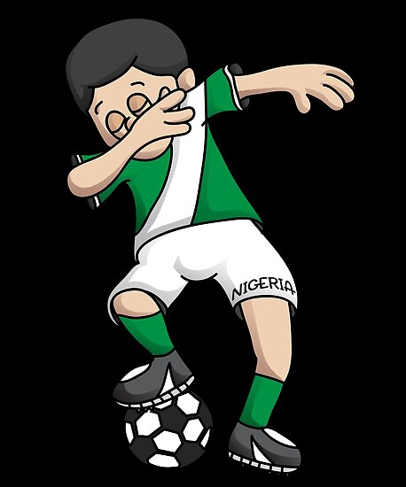 6c8c62e98 Nigeria Football Dabbing Soccer Boy With National Flag Jersey Futbol Fan  Shirt by BzarDesigns