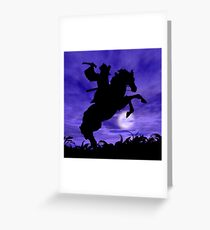 Samurai on Horse Greeting Card
