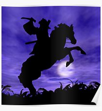 Samurai on Horse Poster