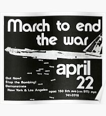 1972 March to End the Vietnam War Poster