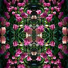 Glowing Dark Tulips 1009 Pattern by Candy Paull