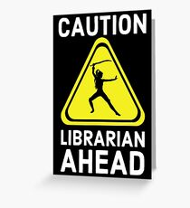 Where my librarians at? Time for ALA Library Information Science Swag Greeting Card