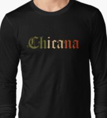 Chicana Mexican Flag Colors Long Sleeve T-Shirt