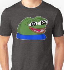 peepoHappy - White Outline Unisex T-Shirt