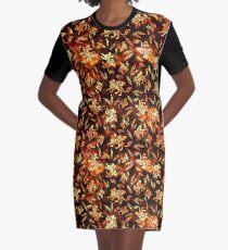 Gryphon Batik - Earth Tones Graphic T-Shirt Dress