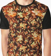 Gryphon Batik - Earth Tones Graphic T-Shirt