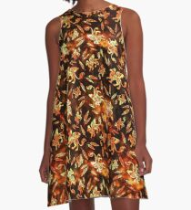 Gryphon Batik - Earth Tones A-Line Dress