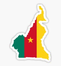 Flag Map of Cameroon  Sticker