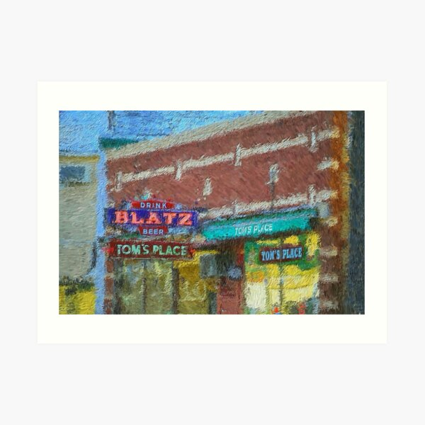 Drink Blatz Beer Art Print