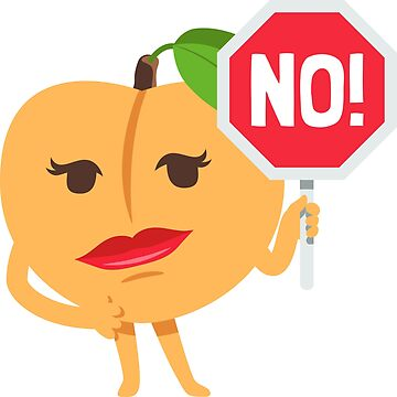 No! Peach Emoji by joypixels