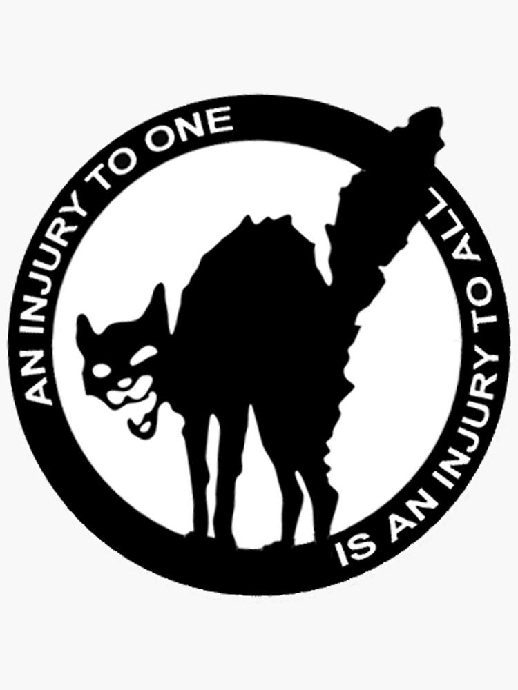 Una lesión para uno es una lesión para todos - Logo anarcosindicalista de dru1138
