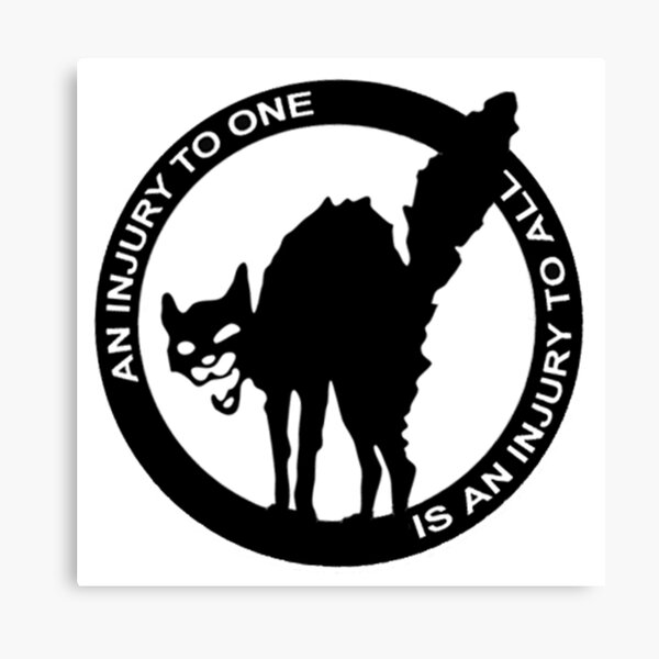AN Injury To One Is An Injury To All - Anarcho-Syndicalist Logo Canvas Print